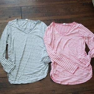 Gap maternity stripe tshirts